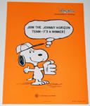 Baseball Snoopy Johnny Horizon Small Poster