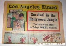 L.A. Times July 6, 1969 Comics Section