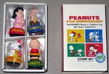 Peanuts gang 45th Anniversary Rubber Stamp Set