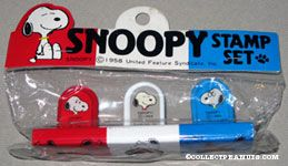 Snoopy portaits Rubber Stamp Set