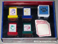 Snoopy portaits Rubber Stamp Set with stickers and ink pad