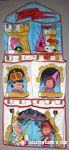 Snoopy's Kingdom castle scenes with Peanuts Gang Shoe Organizer