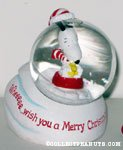 Snoopy & Woodstocks sledding 'Weeee... wish you a Merry Christmas' Snowglobe