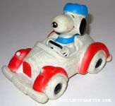 Snoopy in Roadster Car Squeaky Toy