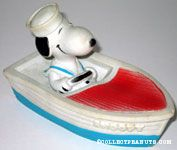 Snoopy in Boat Squeaky Toy
