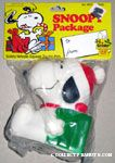 Snoopy holding gift dog squeak toy