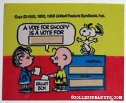 Linus and Charlie Brown Ballot Box