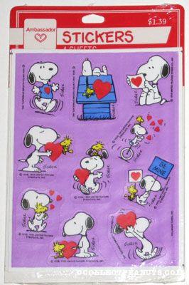Peanuts Hallmark Valentines Day Stickers