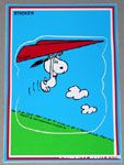 Snoopy hang gliding Sticker Postcard