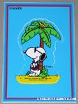 Joe Cool & Woodstock on deserted island Sticker Postcard