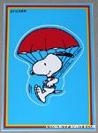 Snoopy Parachuting Sticker Postcard
