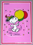 Snoopy dancing with balloons Sticker Postcard