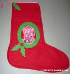 Linus sitting in wreath Felt Stocking