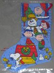 Peanuts Gang outdoors in snow Stocking