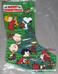 Peanuts Gang around Christmas tree Stocking