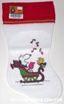 Snoopy & Woodstock carolling in sleigh Stocking