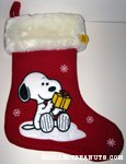 Snoopy looking at gift Musical Stocking