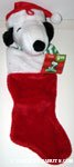 Snoopy wearing santa hat Stocking