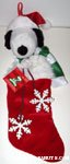 Snoopy holding snowflakes on string Christmas Stocking
