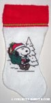 Santa Snoopy with bag Stocking