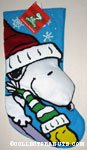 Snoopy & Woodstock Sledding Christmas Stocking