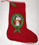 Snoopy Flying Ace Christmas Stocking
