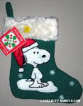 Snoopy standing on Snow Stocking