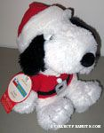 Santa Snoopy Stuffed Animal