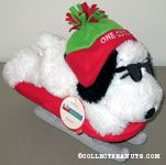Joe Cool on Sled Stuffed Animal