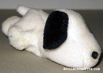 Snoopy laying on tummy bean bag doll