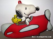 Snoopy & Woodstock in plane Stuffed Toy