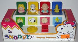 Sally, Snoopy, Charlie Brown, Woodstock Pop-up Toy