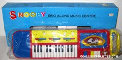 Snoopy Sing-A-Long Music Center Keyboard & Cassette Tape Player