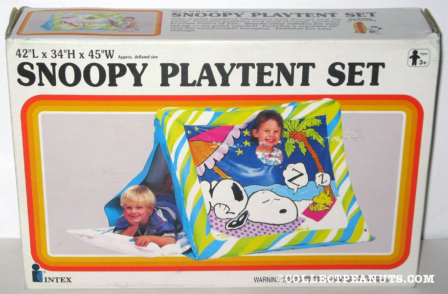 Snoopy u0026 Woodstock sleeping Play Tent  sc 1 st  CollectPeanuts.com & Peanuts Inflatable Toys | CollectPeanuts.com