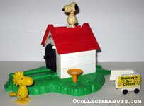 Snoopy's Doghouse Playset with Snoopy & Woodstock Wind-ups