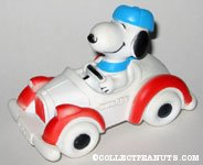 Snoopy Driving Car Squeaky Toy