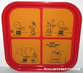 Snoopy & Charlie Brown 'Tired' Comic Metal Tray