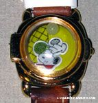 Snoopy playing Tennis water globe cover