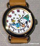 Snoopy & Woodstock wizards with globe Watch