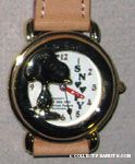 Gold Tone Figural Snoopy Watch