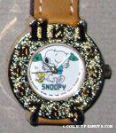 Snoopy cheerleader with Woodstock Watch