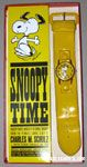 Snoopy dancing on yellow Face with yellow snap band