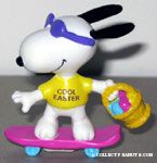 Joe Cool on skateboard with Easter Basket PVC Figurine