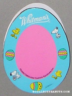 Snoopy & Woodstock Blue & Pink Easter Figure Egg-Shaped Chocolate Box