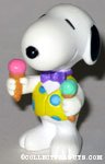 Snoopy holding ice cream cones PVC figurine