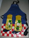 Snoopy, Woodstock and Charlie Brown Salt & Pepper Shakers Apron