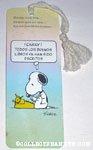 Snoopy at Typewriter Spanish Bookmark