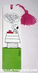 Snoopy with books Bookmark