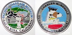 Snoopy Flying Ace Sonoma County Airport & Pacific Coast Air Museum Collector Coin