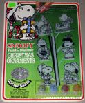 Snoopy Paint by Number Christmas Ornaments with Glitter Glaze